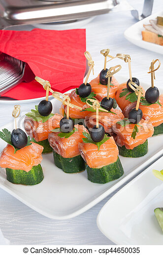 fast food junk food catering and unhealthy eating concept close up of - Mini Canape