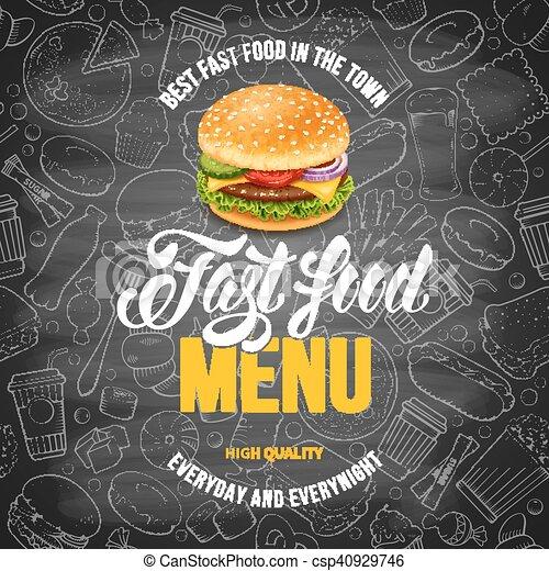 Fast Food Menu Template - csp40929746