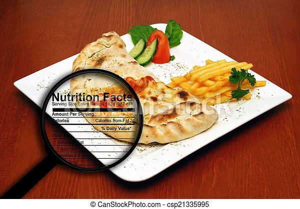 Fast food nutrition facts - csp21335995