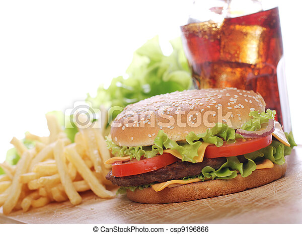 Fast food on the table - csp9196866