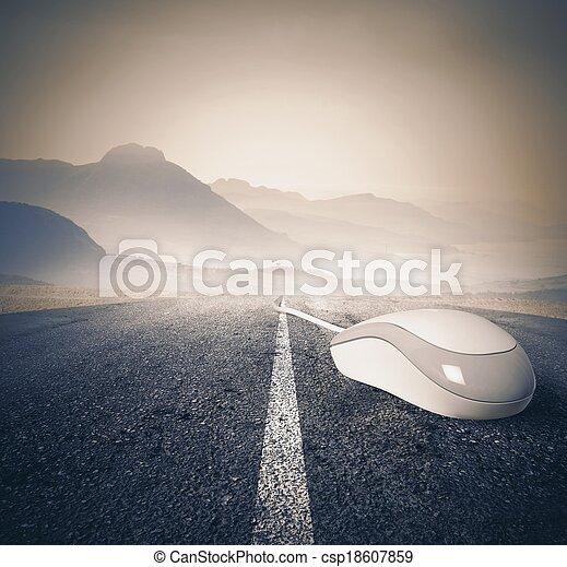 Fast internet concept - csp18607859