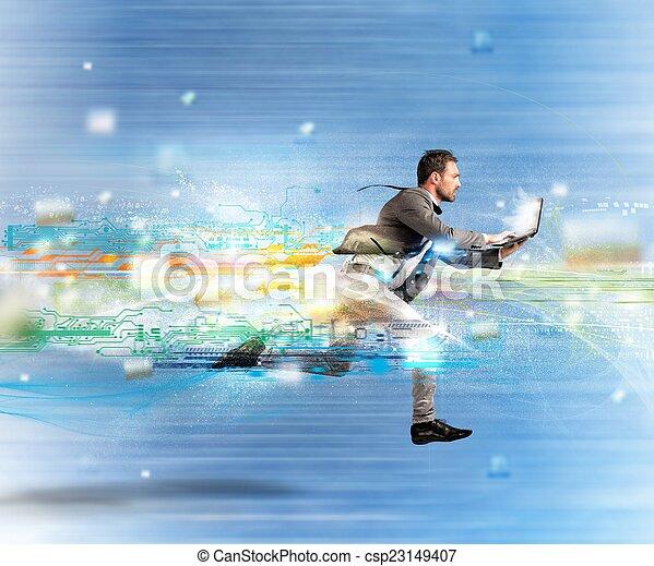 Fast internet concept - csp23149407