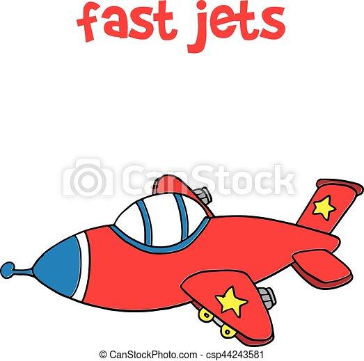 fast jet transportation cartoon for kids vector illustration vector rh canstockphoto com cartoon jetsons characters cartoon jet ski
