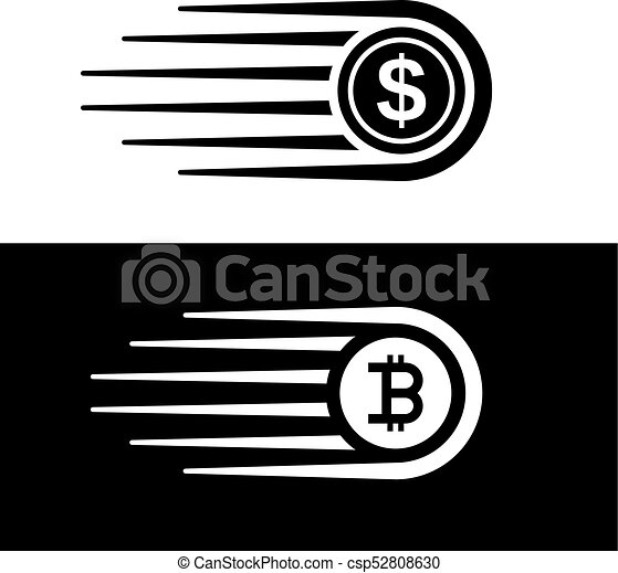 Fast money bitcoin motion line coin vector illustration vectors fast money bitcoin motion line coin vector ccuart Gallery