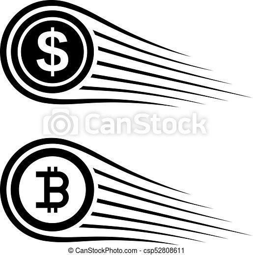 Fast money bitcoin motion line coin vector illustration vector fast money bitcoin motion line coin vector ccuart Gallery