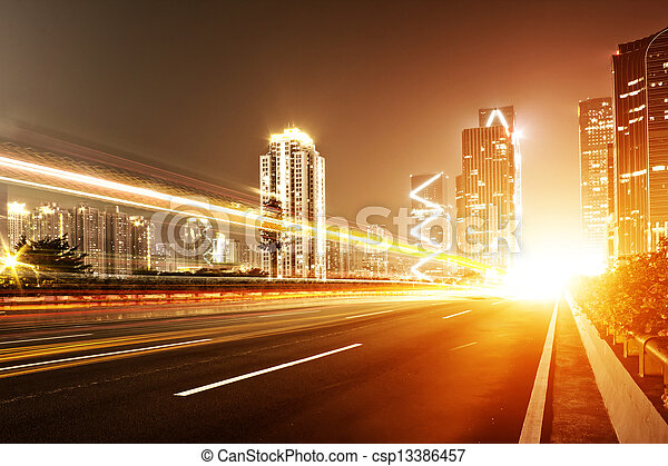 Fast moving cars - csp13386457