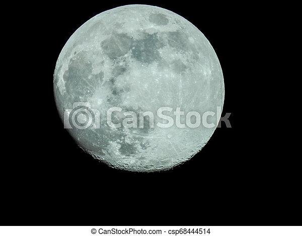 fast, nacht, voll, himmelsgewölbe, mond - csp68444514