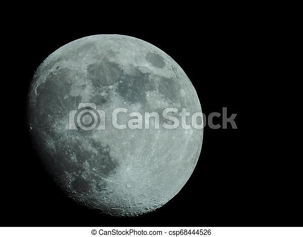 fast, nacht, voll, himmelsgewölbe, mond - csp68444526