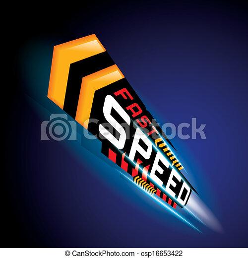 FAST SPEED CONCEPT VECTOR - csp16653422
