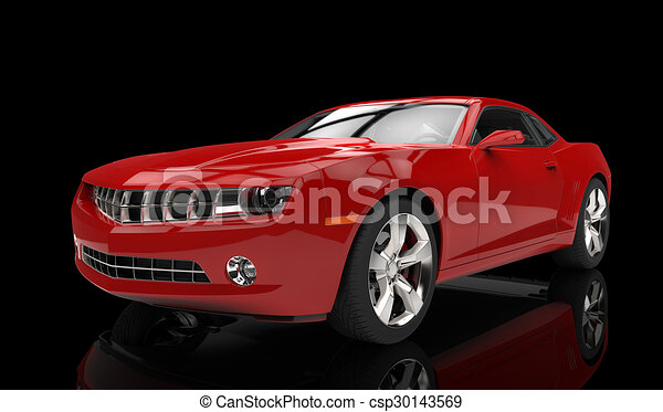 Fast Sports Car Red - csp30143569