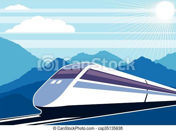 Fast Train   - csp35135638