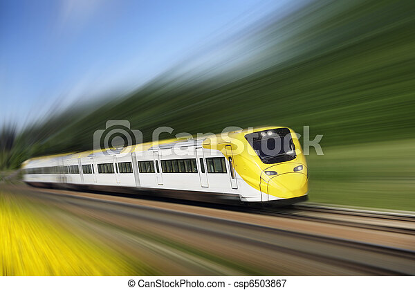 Fast train in motion - csp6503867