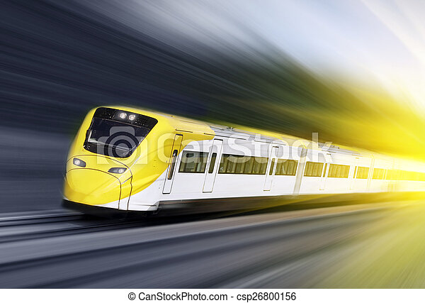 Fast train in motion - csp26800156