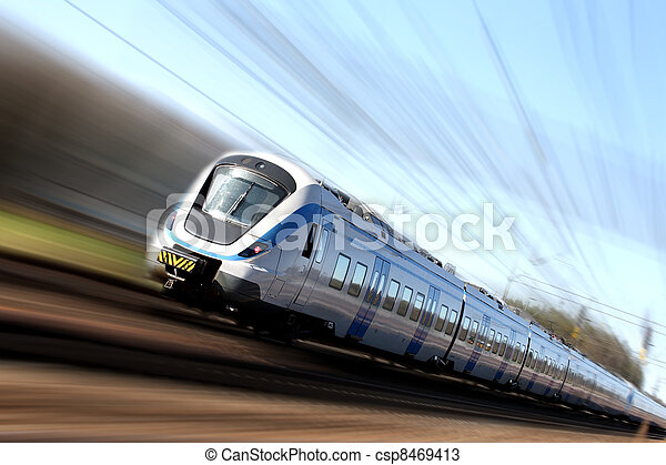 Fast train in motion - csp8469413