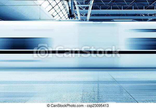 Fast trains - csp23095413