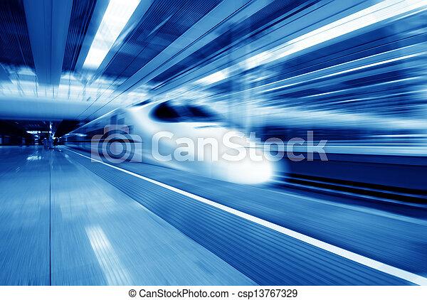 Fast trains - csp13767329