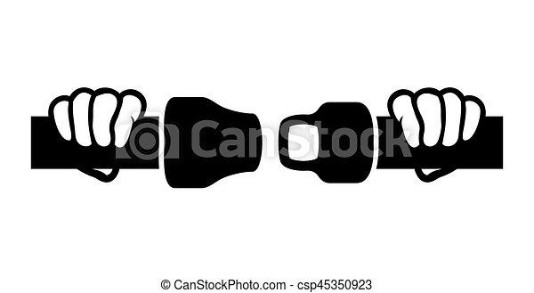 Fasten seat belts sign - csp45350923
