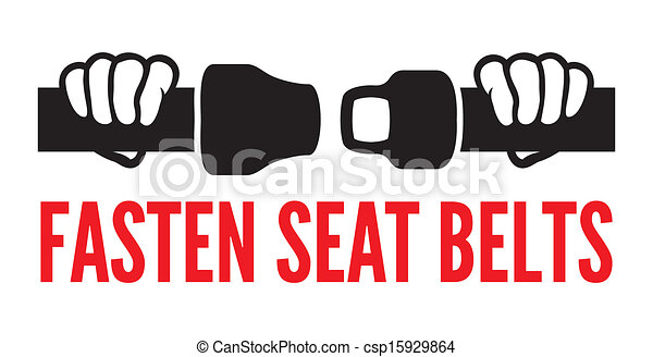 Fasten your seat belts icon - csp15929864