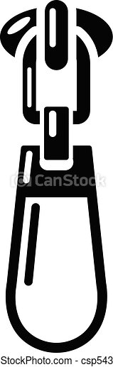 Fastening zip icon, simple style - csp54392765