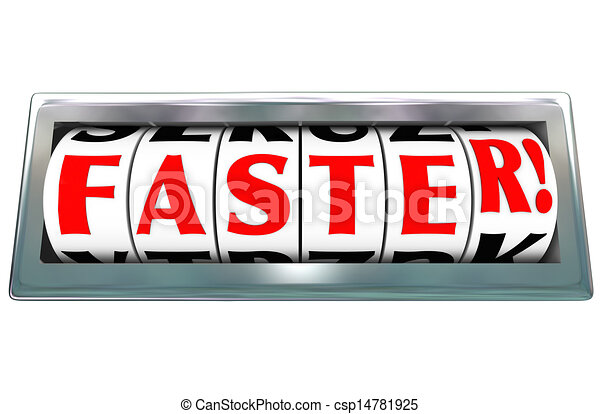 Faster Word Odometer Speed Fast Quick Racing - csp14781925