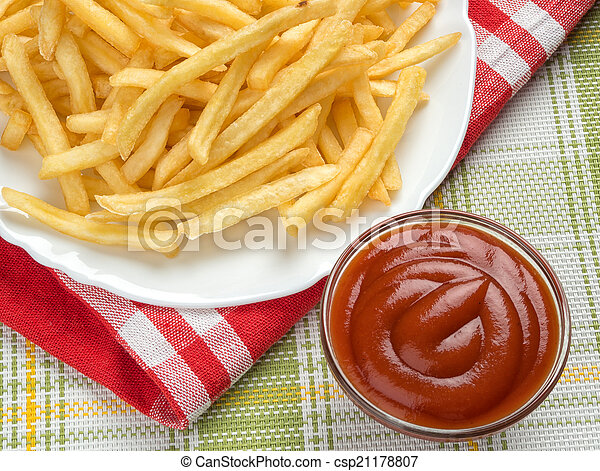 Fastfood. French fries - csp21178807
