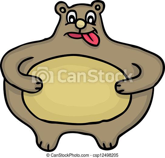 painted fat bear vector illustration vector clipart search rh canstockphoto com bear vector graphic bear vector illustrations