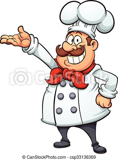 fat cartoon chef vector clip art illustration with simple clip rh canstockphoto com clip art chef's hat clip art chef salad