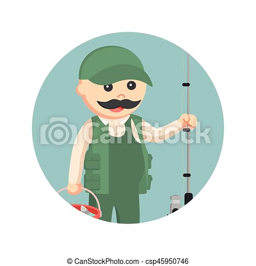 Female Fisherman With Prohibited Dynamite Fishing Sign In Circle.. Royalty  Free Cliparts, Vectors, And Stock Illustration. Image 75540765.