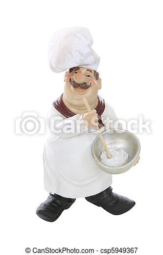 Fat Italian Chef Over White An Overweight Isolated Background Canstock