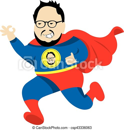 fat man super hero vector cartoon fat man super hero vector rh canstockphoto com  fat stick man clipart