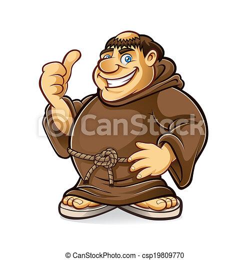 Fat Monk - csp19809770