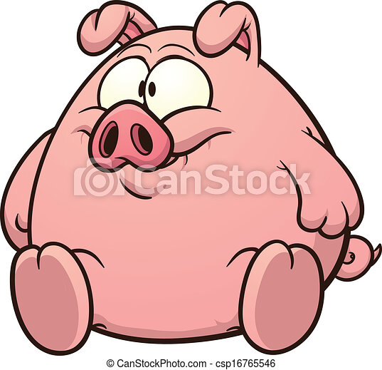 fat pig clip art vector cartoon illustration with simple gradients rh canstockphoto com pig vector free download pig vector free