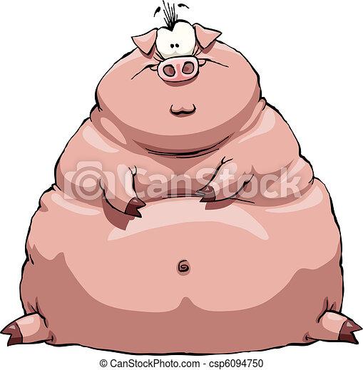 Fat pig - csp6094750