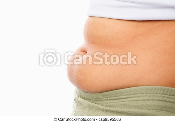 Fat tummy for obese concept - csp9595586