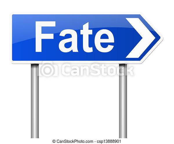 Fate concept. - csp13888901