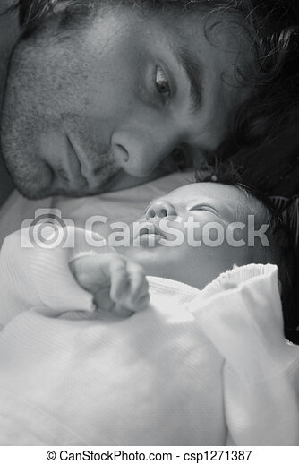 Father and baby - csp1271387