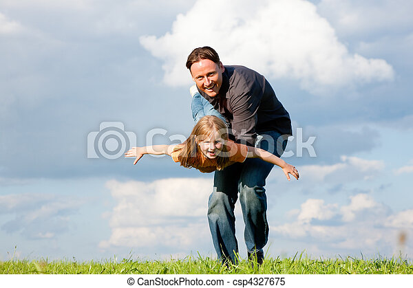 Father and child playing together - csp4327675