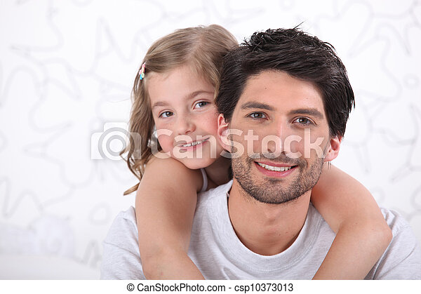 Father and daughter portrait - csp10373013