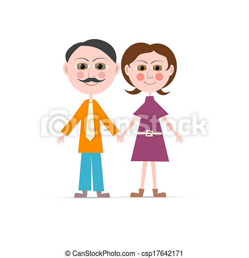 Father and Mother Vector Illustration Isolated on white Background - csp17642171