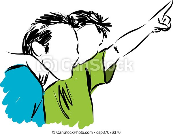 father and son 2 illustration vectors illustration search clipart rh canstockphoto com dad and son clipart mother father and son clipart