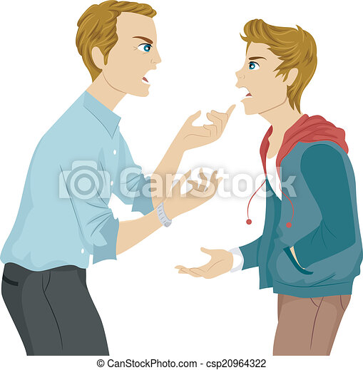 Father and Son Argument - csp20964322