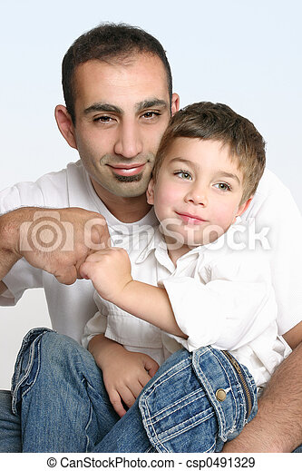 Father and son best mates - csp0491329