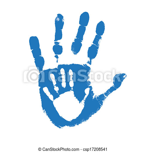 Father and son handprints - csp17208541