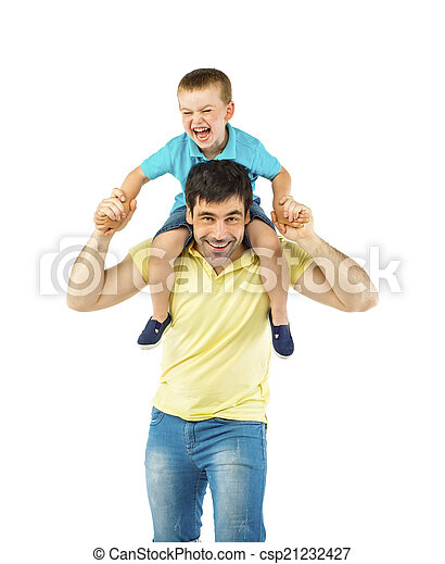 Father and son - csp21232427