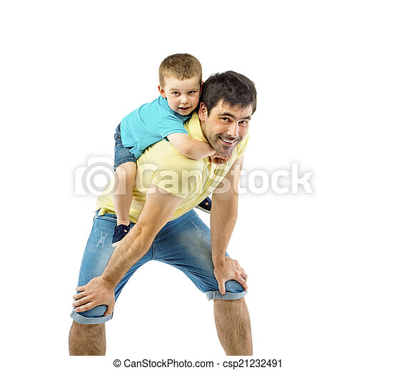 Father and son - csp21232491
