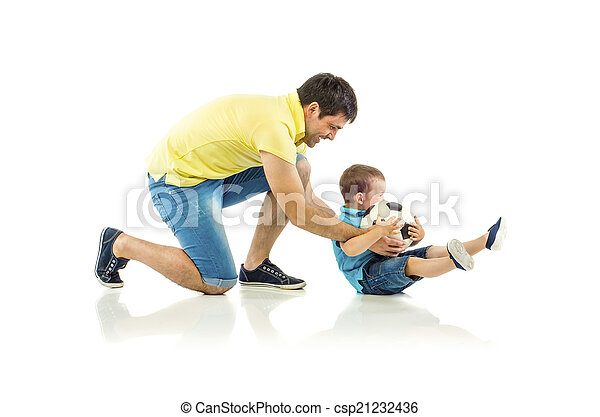 Father and son - csp21232436