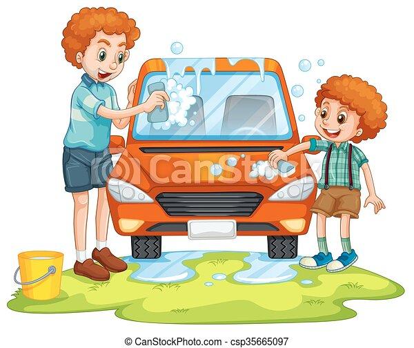 Car Washing Drawing