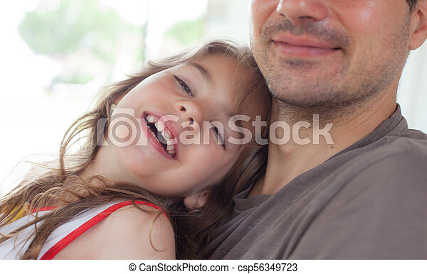 Father Girl Smiling - csp56349723