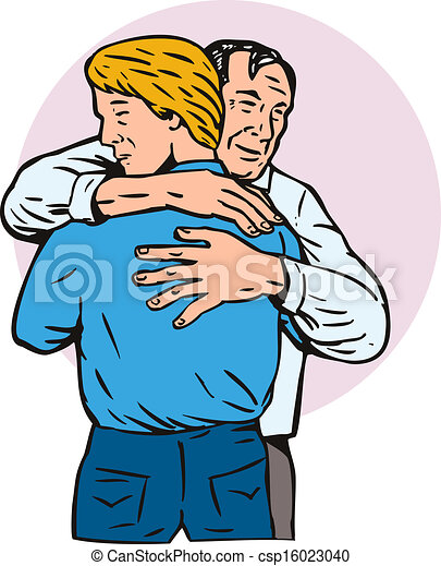 father hugging son illustration of father hugging embracing rh canstockphoto com feather clip art free father clip art black and white