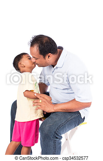 father kiss his son - csp34532577